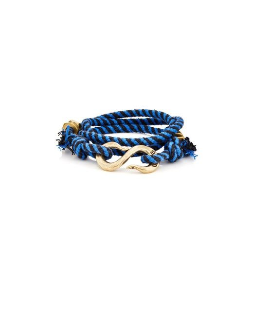 Giles & Brother | Blue Rope Wrap Bracelet With S | Lyst