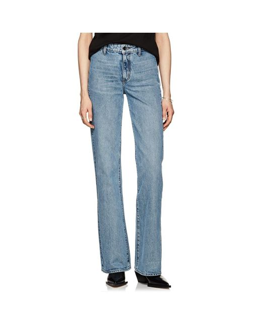 Helmut Lang - Blue High-rise Straight Jeans - Lyst
