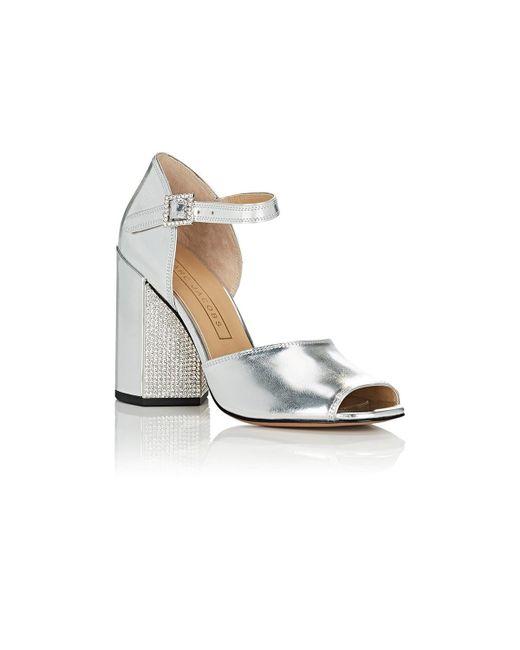 b29e744a786 ... Marc Jacobs - Metallic Kasia Specchio Leather Sandals - Lyst ...