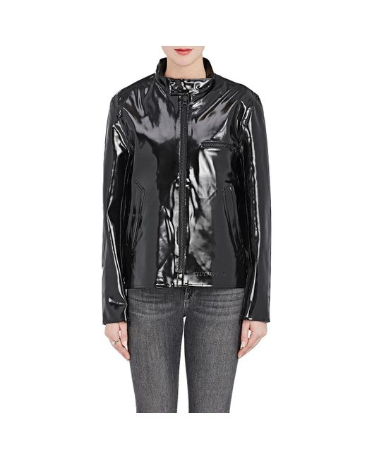 Stutterheim | Black Opal Moto Raincoat | Lyst