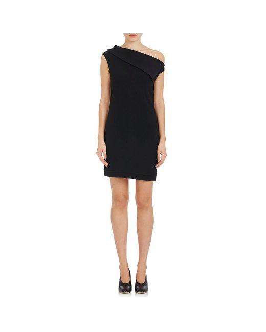 Helmut Lang - Black Wool-blend One-shoulder Minidress - Lyst