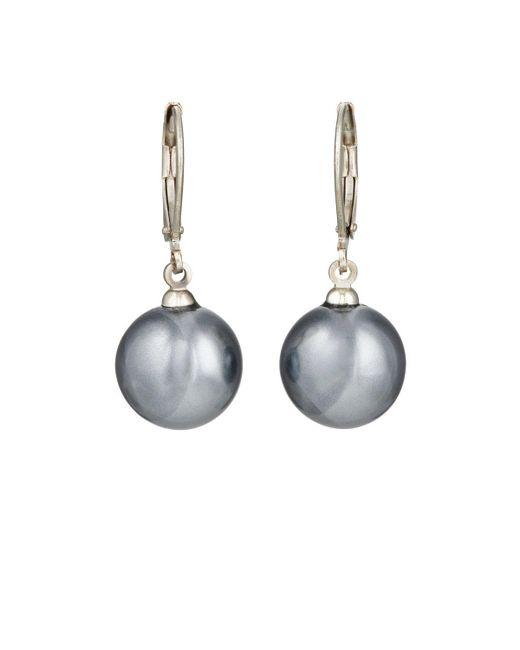 Kenneth Jay Lane | Metallic Imitation Pearl Drop Earrings | Lyst
