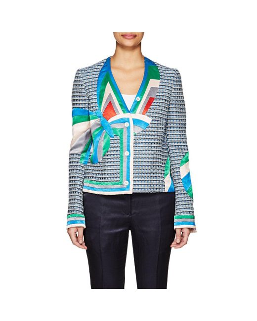 Thom Browne - Blue Satin-inset Cotton-blend Jacket - Lyst