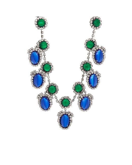 Kenneth Jay Lane | Blue Drop Necklace | Lyst