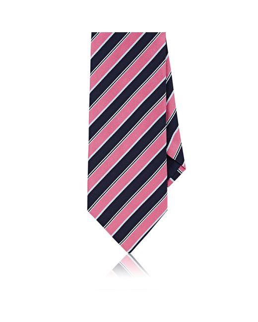 Barneys New York - Pink Repp Stripe Silk Necktie for Men - Lyst