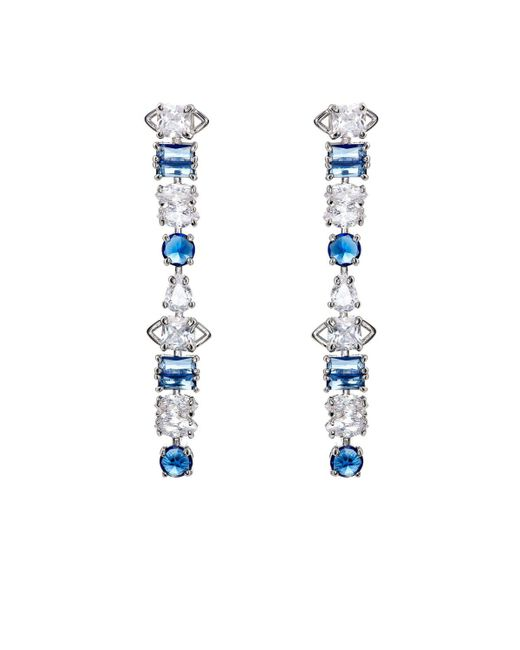 Fallon | Blue Jagged Edge Drop Earrings | Lyst