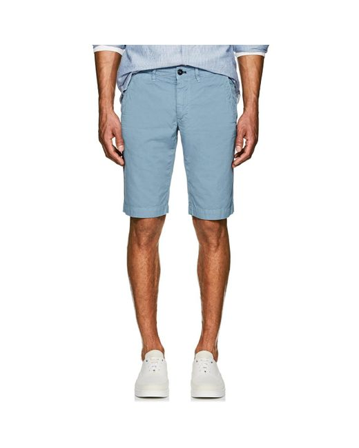 Barneys New York - Blue Cotton Slim Shorts for Men - Lyst