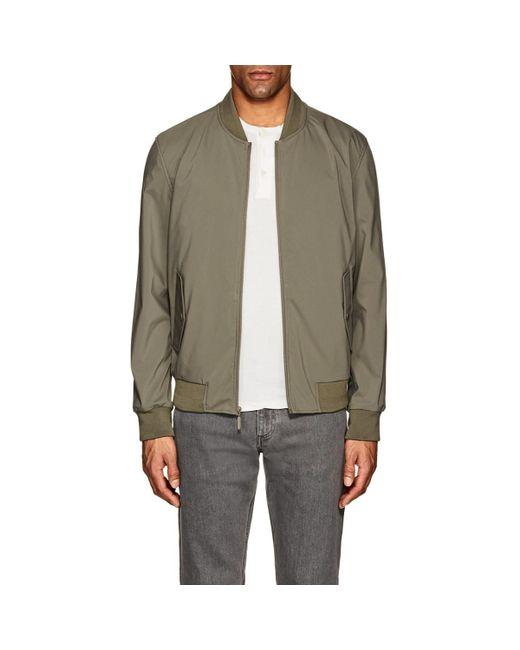 Barneys New York - Green Tech Bomber Jacket for Men - Lyst