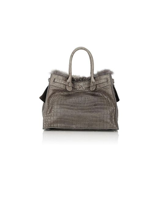 Zagliani | Gray Crocodile & Fox | Lyst