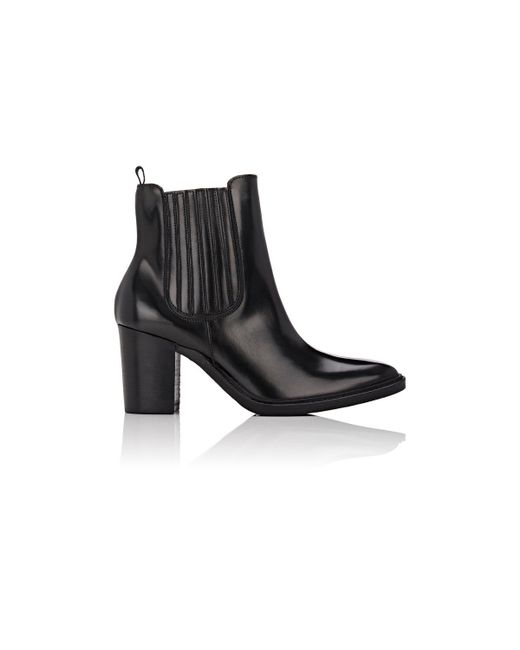 Barneys New York | Black Leather Ankle Boots | Lyst