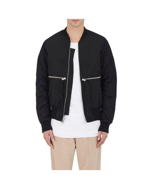 Stampd | Black Embroidered Cotton Bomber Jacket for Men | Lyst
