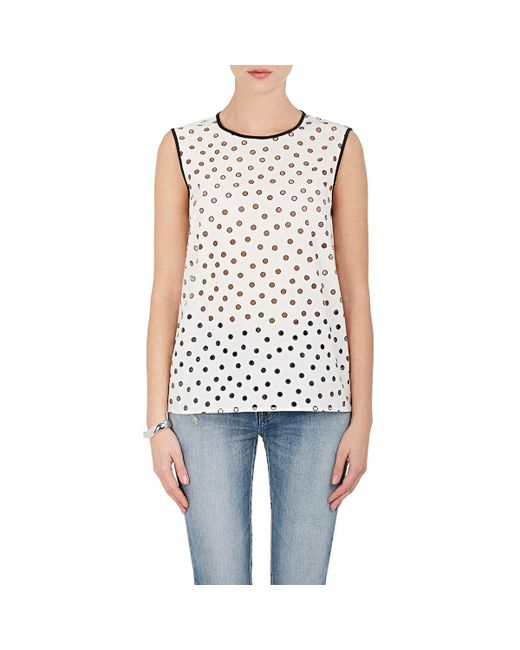 Rhié | White Cutout Cotton Sleeveless Top | Lyst