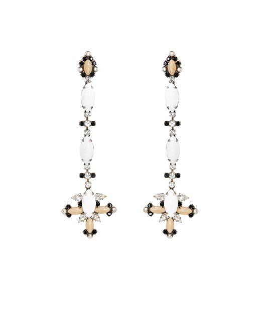 DANNIJO | Metallic Genoa Drop Earrings | Lyst