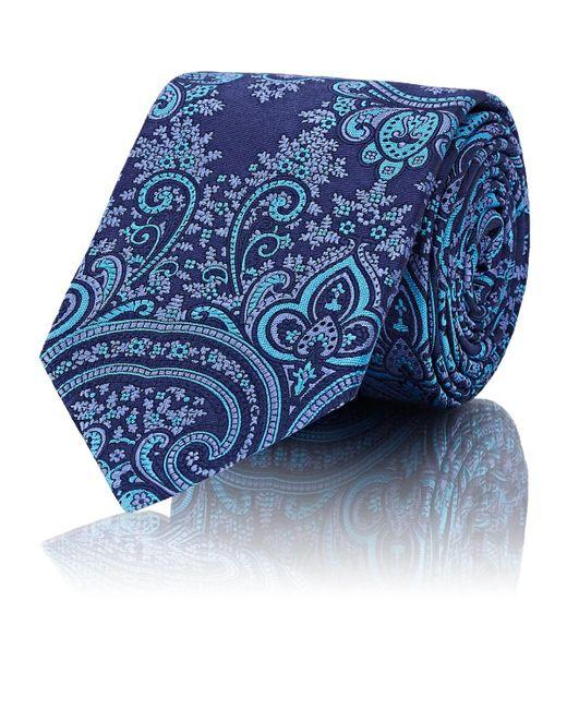 Barneys New York - Blue Paisley Silk Twill Necktie for Men - Lyst