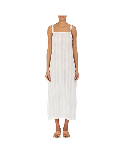 Solid & Striped | White Cotton Voile Maxi Dress | Lyst