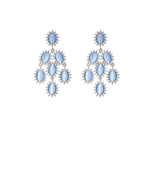 Kenneth Jay Lane | Metallic Cabochon & Crystal Chandelier Earrings | Lyst