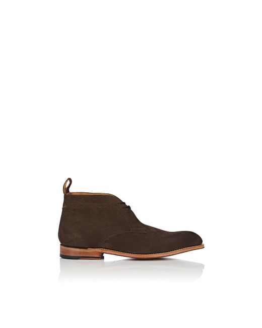 GRENSON - Brown Marcus Nubuck Chukka Boots for Men - Lyst