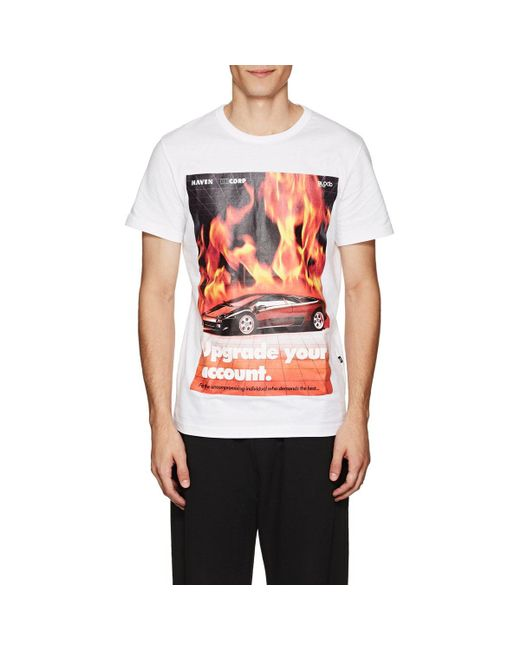 Blood Brother - White Flames Cotton T-shirt for Men - Lyst
