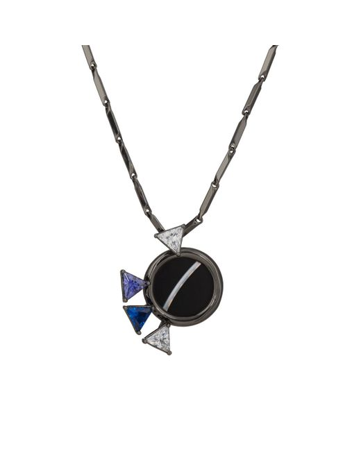 Eddie Borgo   Black Europa Mini Pendant Necklace   Lyst