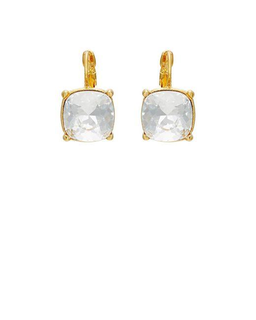 Kenneth Jay Lane | Metallic Crystal Drop Earrings | Lyst