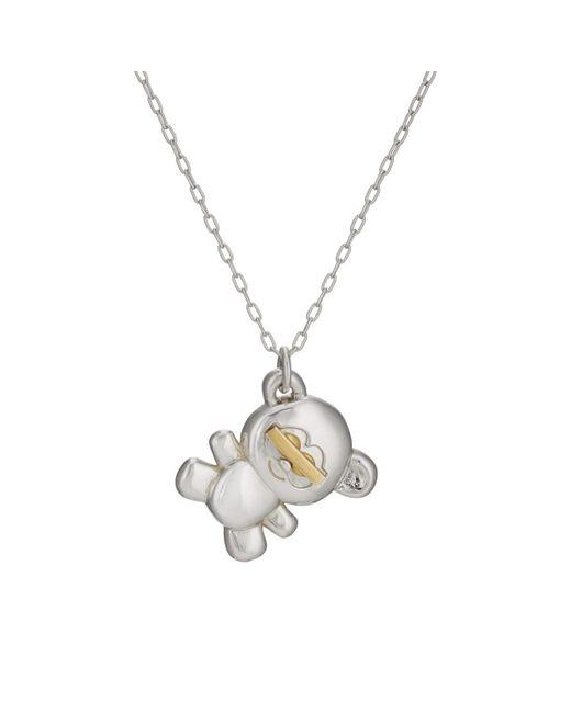 Ambush - Metallic Teddy Bear Pendant Necklace - Lyst