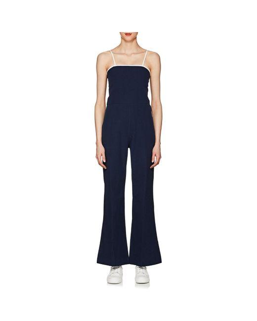 Solid & Striped - Blue Breeze Cotton Seersucker Jumpsuit - Lyst