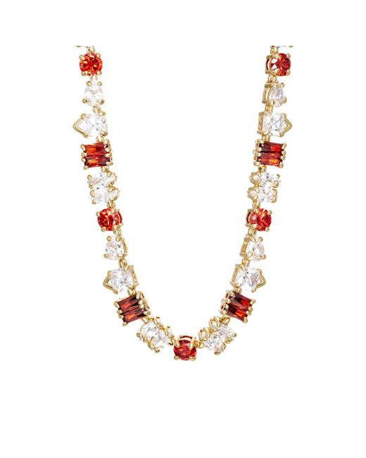 Fallon | Multicolor Jagged Edge Necklace | Lyst
