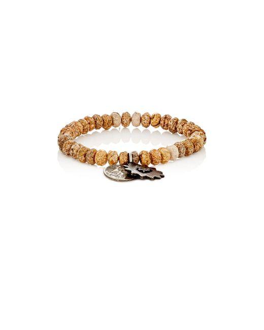 Miracle Icons | Brown Pietersite Rondelle & Charm Bracelet | Lyst