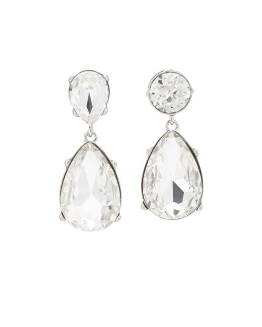 Kenneth Jay Lane - Metallic Crystal Mismatched Drop Earrings - Lyst