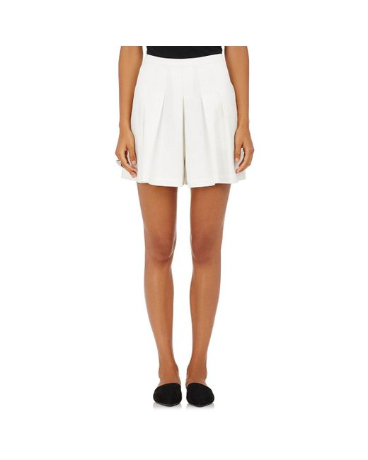 Robert Rodriguez - White Cotton Crepe Pleated Shorts - Lyst