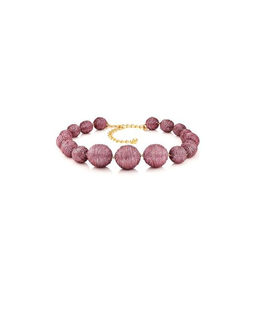 Kenneth Jay Lane - Multicolor Metallic Sphere Necklace - Lyst