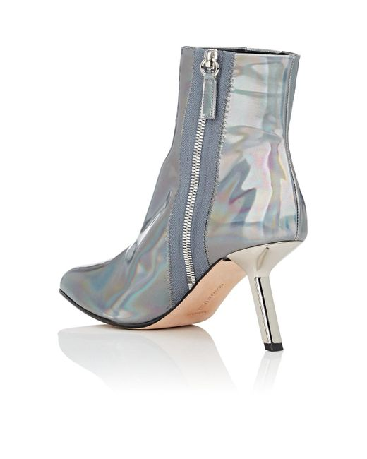 5e24cdff6584 ... Alchimia Di Ballin - Blue Hedra Holographic Leather Ankle Boots Size 6  - Lyst ...