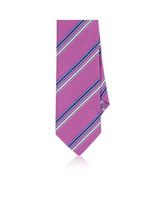 Etro | Pink Striped Silk Faille Necktie for Men | Lyst