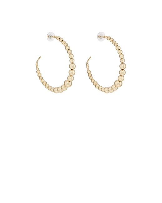 Kenneth Jay Lane | Metallic Beaded Wire Hoop Earrings | Lyst