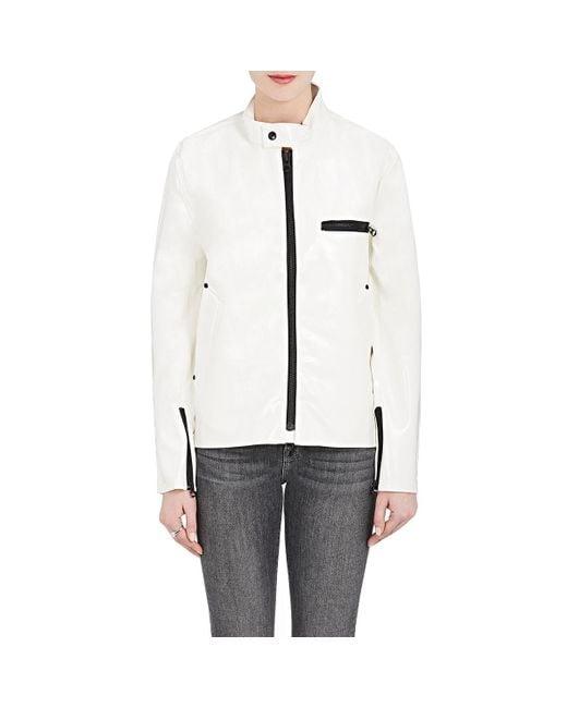 Stutterheim - White Opal Moto Raincoat - Lyst