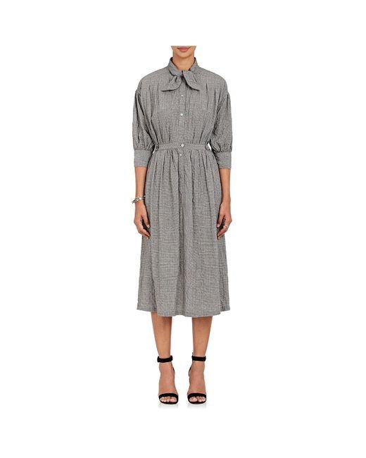 Warm - Gray Medoc Houndstooth Seersucker Shirtdress - Lyst