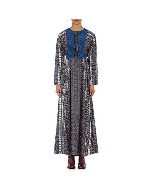 Warm - Blue Twill Our House Maxi Dress - Lyst