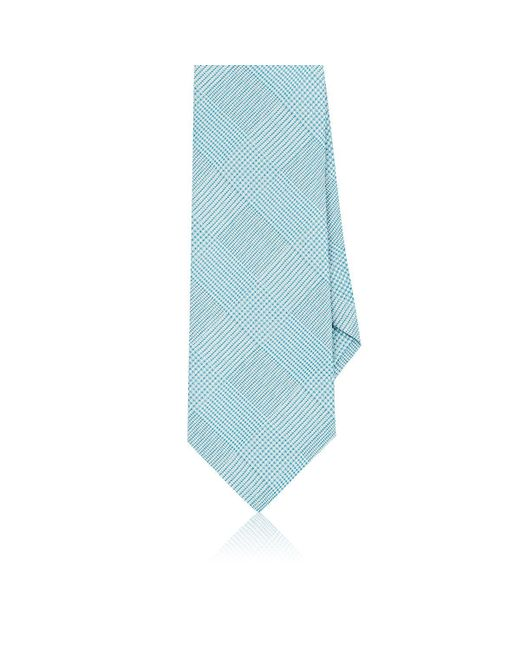 Etro | Blue Prince Of Wales Plaid Silk Necktie for Men | Lyst