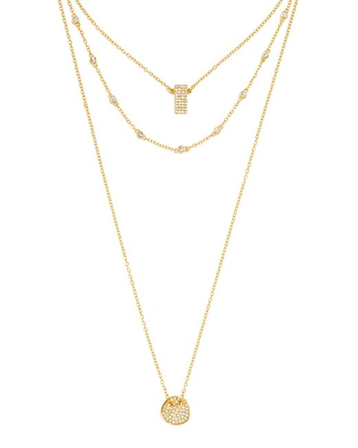 BaubleBar | Metallic Ice Tag Layered Pendant | Lyst