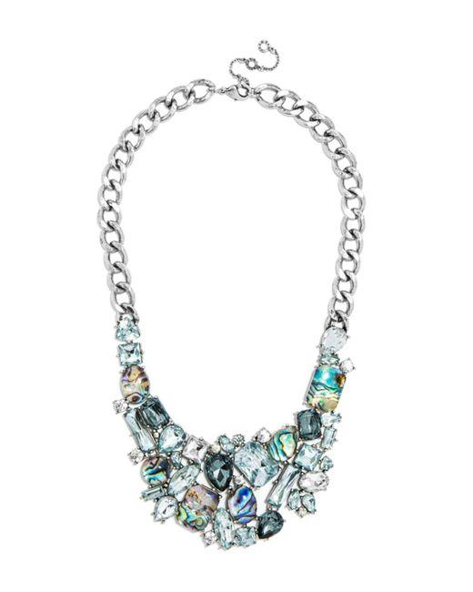 BaubleBar | Metallic Crystal Abalone Bib | Lyst