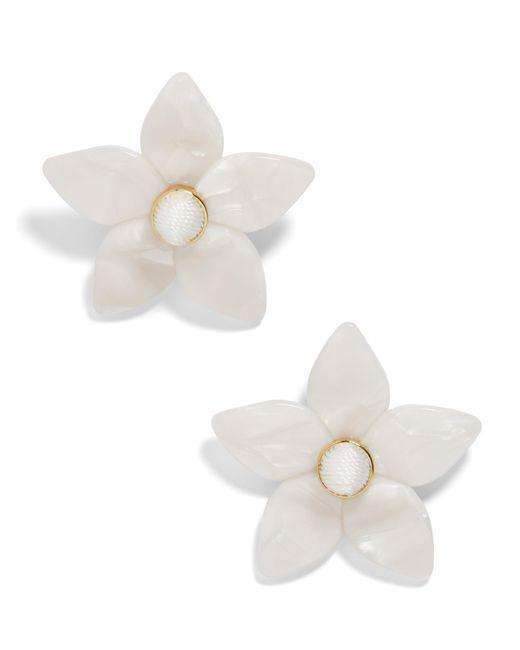 BaubleBar - White Mini Amariella Flower Stud Resin Earrings - Lyst