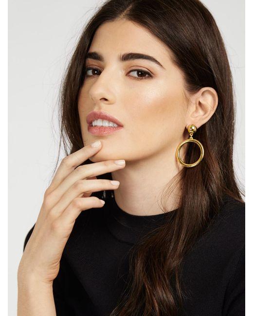 BaubleBar - Metallic Ring Hoop Earrings - Lyst