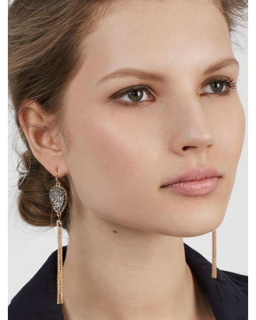 BaubleBar | Gray Starfire Druzy Tassel Earrings | Lyst