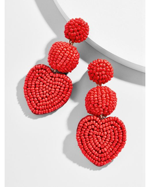 BaubleBar - Red Vitina Heart Drop Earring - Lyst