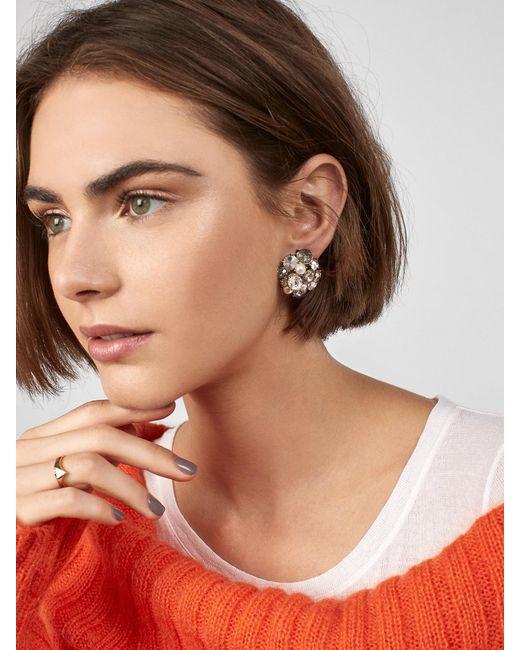 BaubleBar - Metallic Serenah Stud Earrings - Lyst