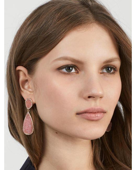 BaubleBar - Multicolor Moonlight Druzy Drop Earrings - Lyst