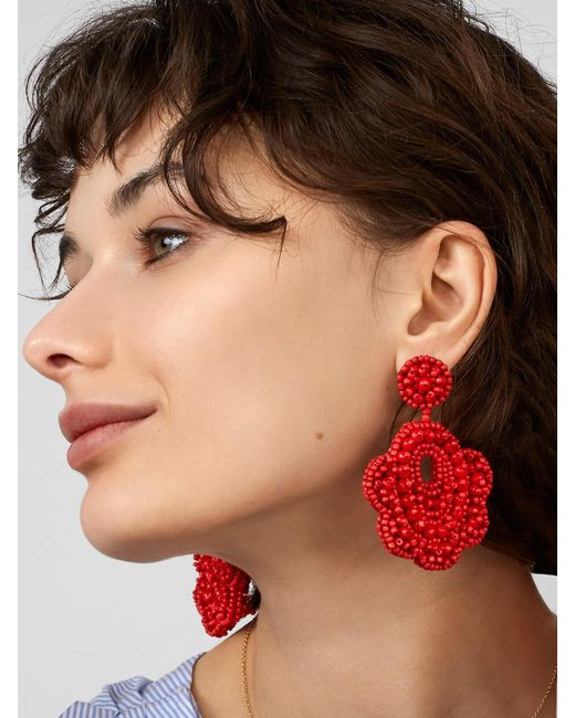 BaubleBar - Red Merralina Drop Earrings - Lyst