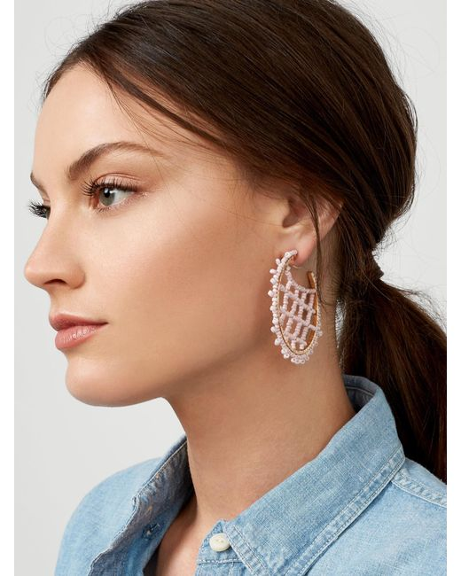 BaubleBar - Black Marquise Hoop Earrings - Lyst