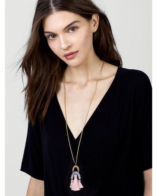 BaubleBar | Multicolor Shamia Pendant Necklace | Lyst