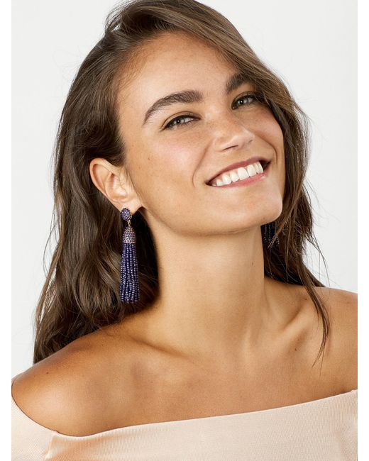 BaubleBar | Blue Piñata Tassel Earrings | Lyst